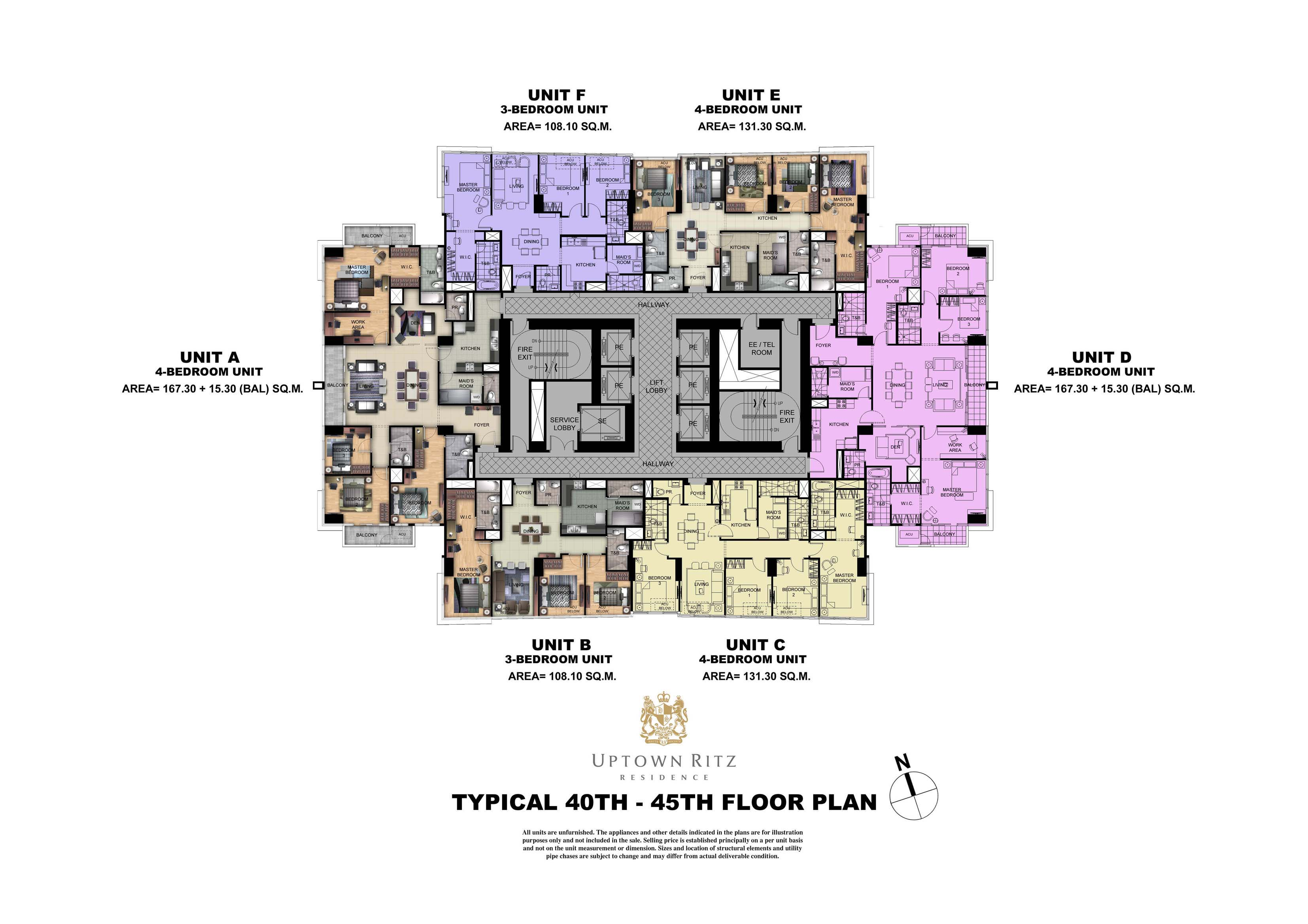 Uptown ritz penthouse floor plan megaworld condominiums - Lay outs penthouse ...