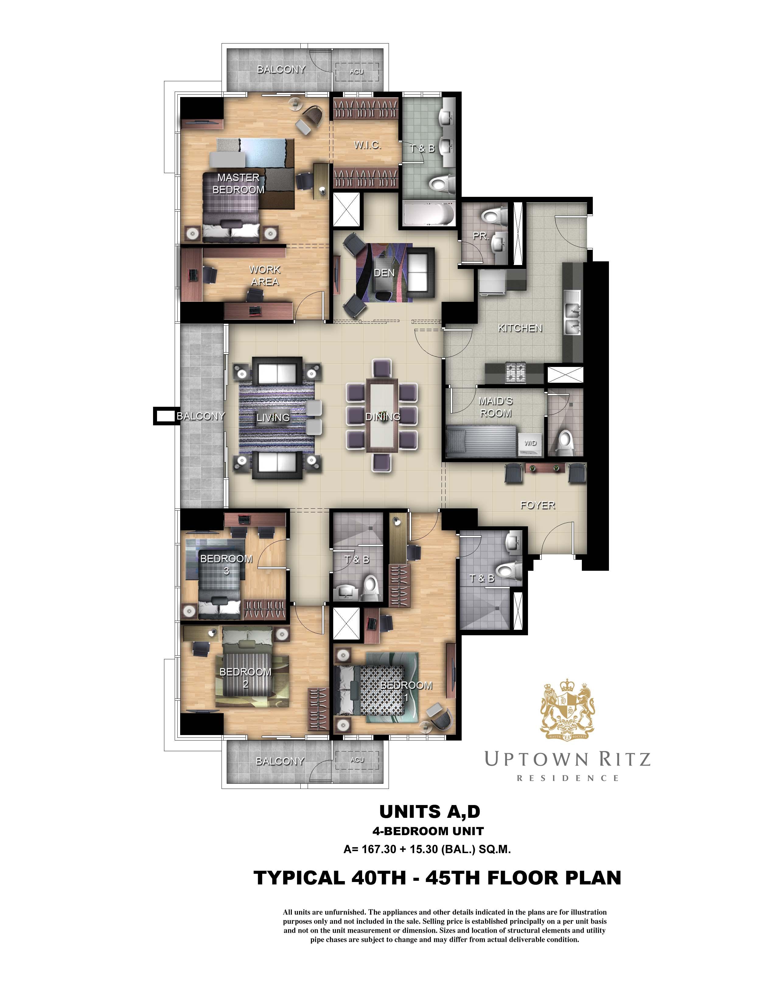 Unit Layouts Ritz Penthouse Unit Layout