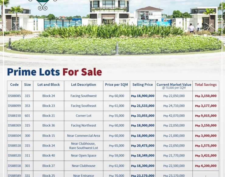 Lots For Sale Alabang West Village in Las Pinas City – Beverly Hills of the South
