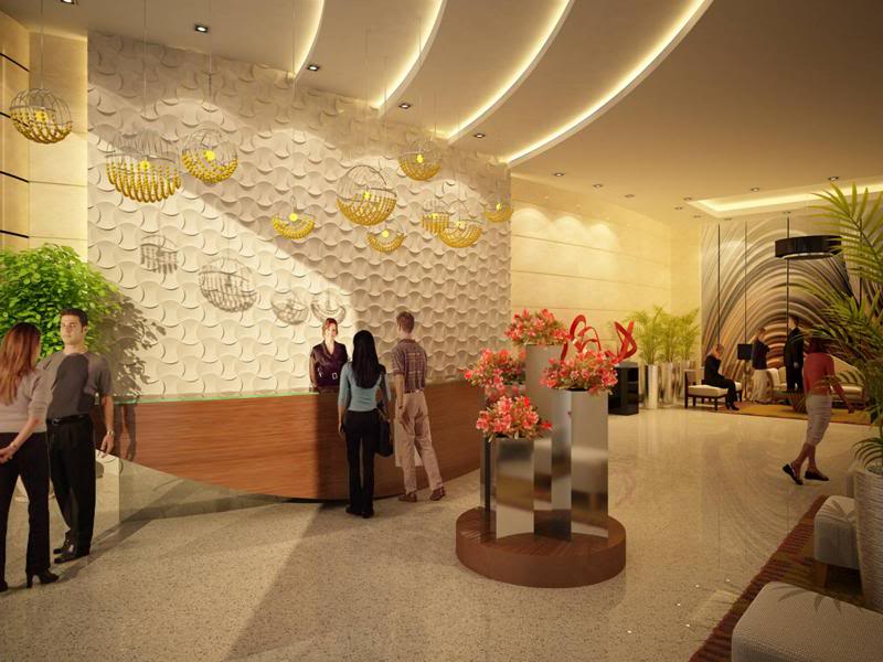 Three Central Grand Lobby