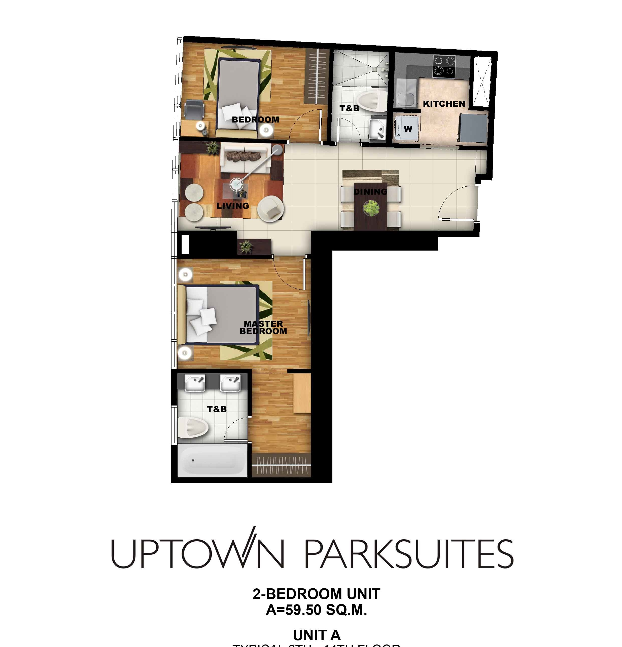 Uptown parksuites 2 bedroom