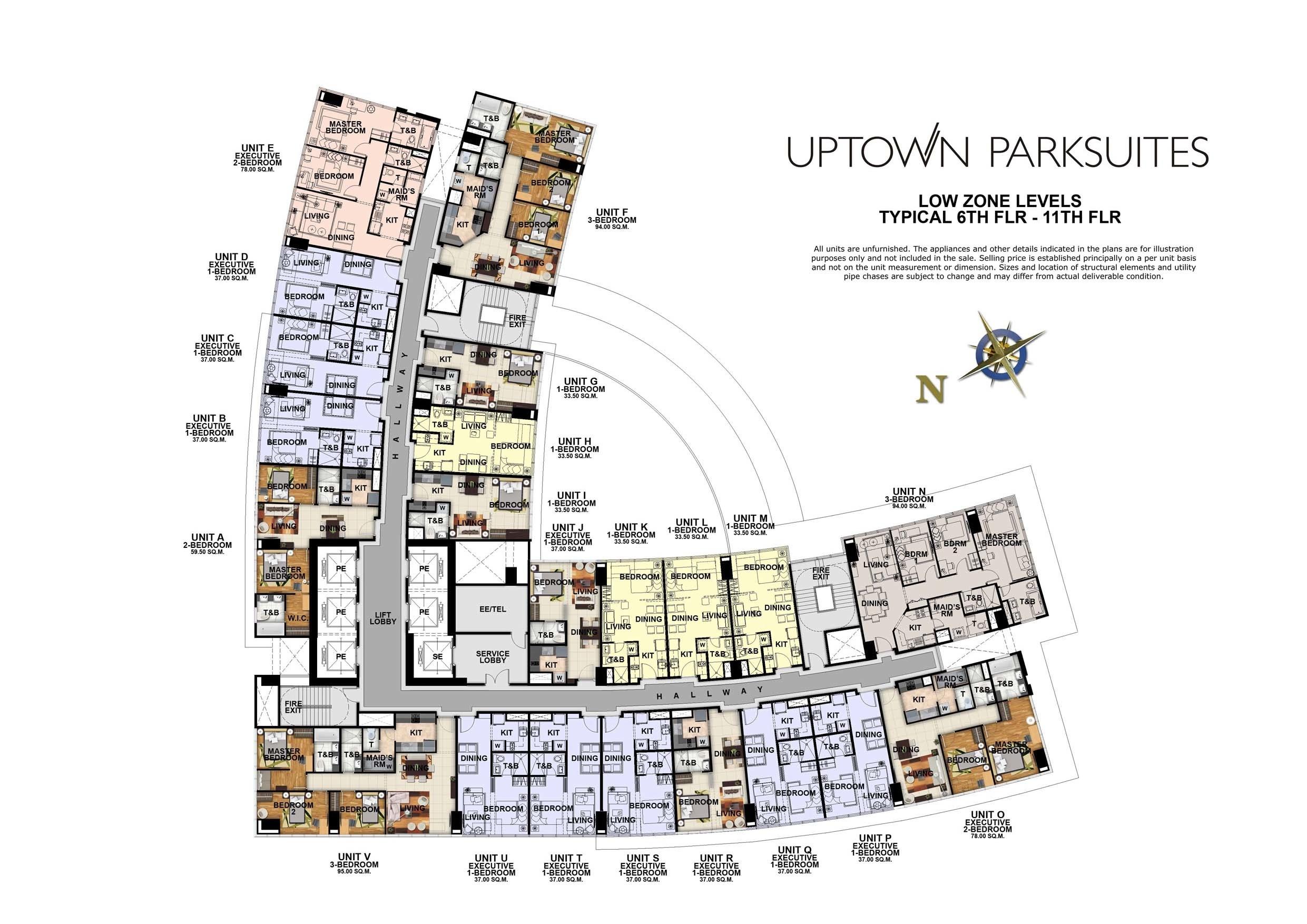 Uptown Parksuites floor plan
