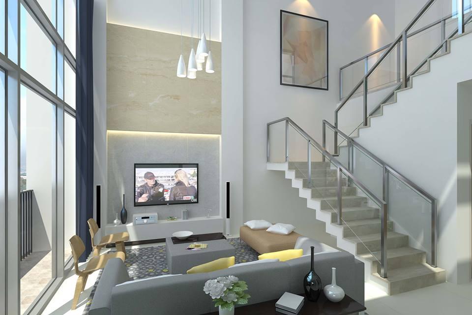 St. Moritz penthouse living room