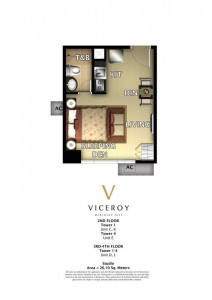VICEROY STUDIO 26.10 sqm