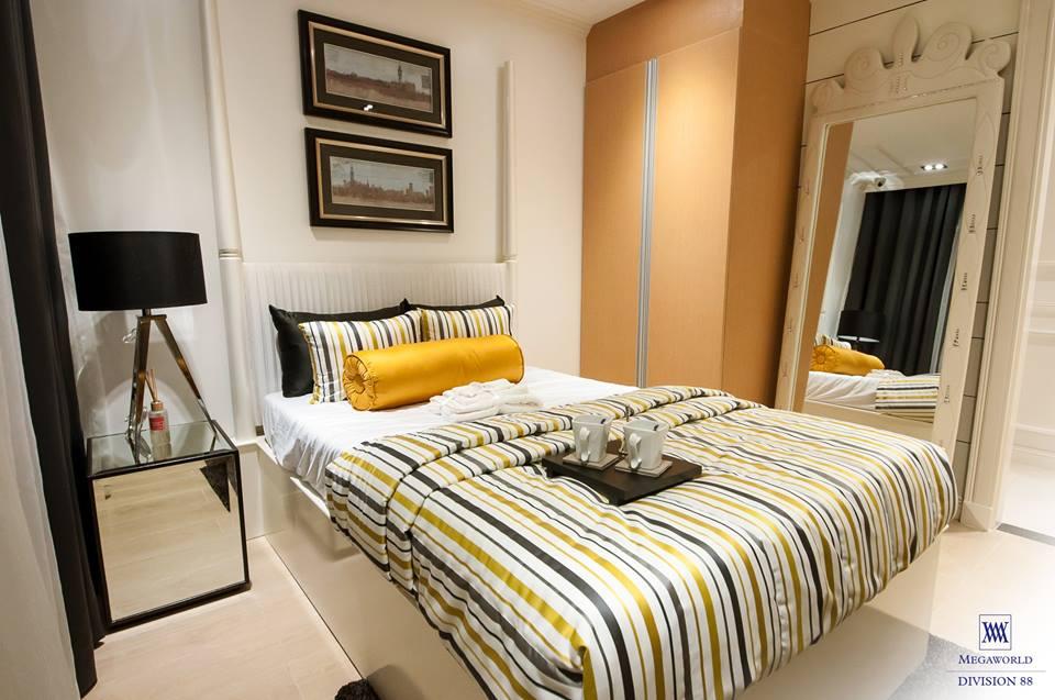 Florence model unit bedroom