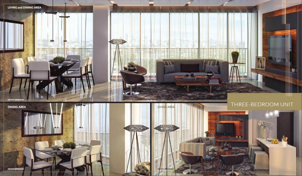 st-moritz-mckinley-west-highend-condos-3bedroom-unit-dining-living-area