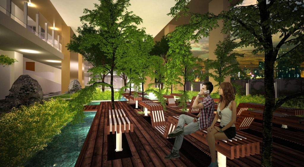 Amenity eating area